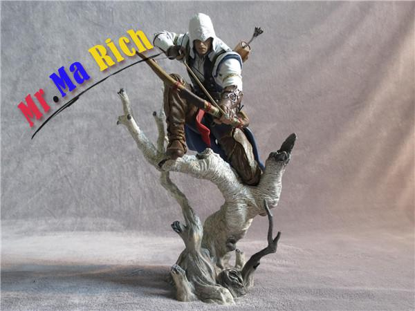 Assassin creed 3 Connor PVC Action Figure Koleksiyon Model Oyuncak 26 cm