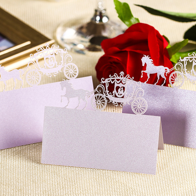 120 pcs Laser Cut Place Name Card Wholesale Wedding Decorative High Quality Paper Seat Cards Festival Party Decor Tool