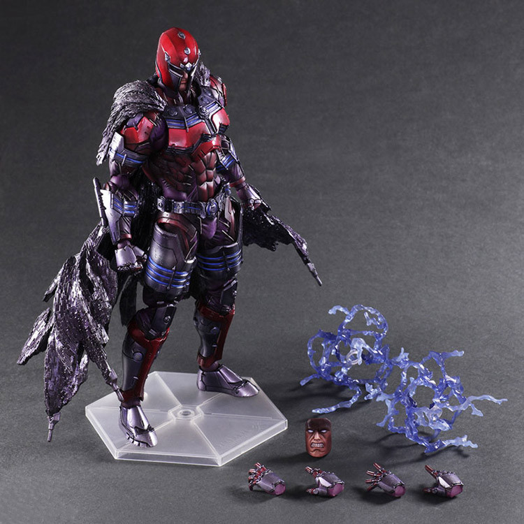 OYUN SANATLARI 27 cm Marvel x-men Magneto Max Eisenhardt PVC Action Figure Model Oyuncak