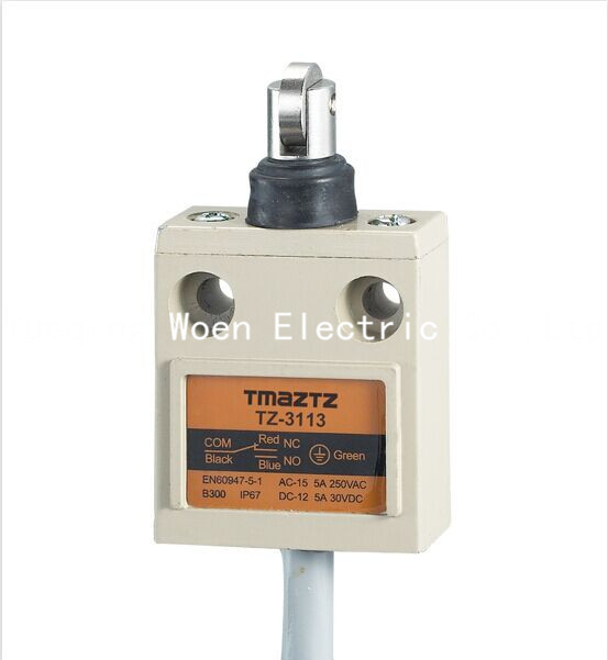 Tmaztz TZ-3113 IP67 4 Tel Rulo Kolu Piston Limit Switch SPDT NO + NC Bakır tel 3 M